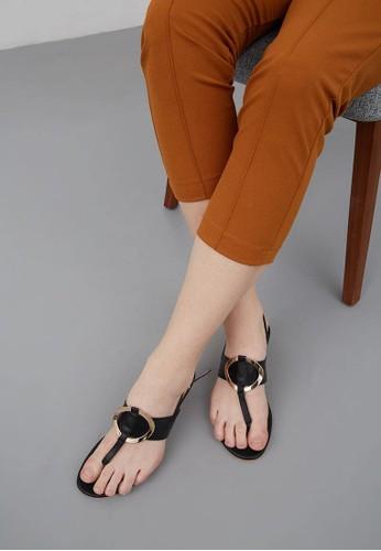 Jual Berrybenka Label Darissa Decha Sandals Black Original