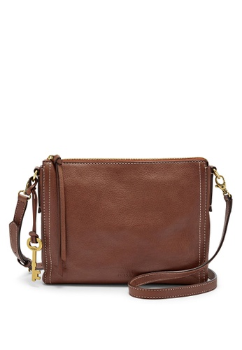 215265a45e35 Fossil brown Fossil Emma Ew Crossbody Bag ZB6842200 FO164AC29ABEMY 1