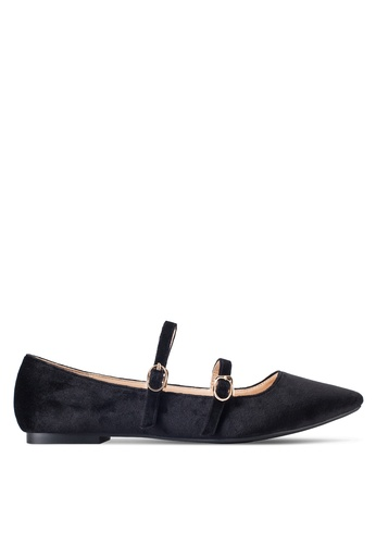 ZALORA black Double Strap Ballerinas 62953SH2C10458GS_1