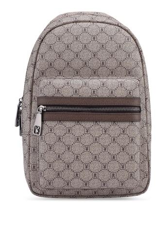 Playboy brown Playboy Chest Bag CC475AC32142A5GS_1