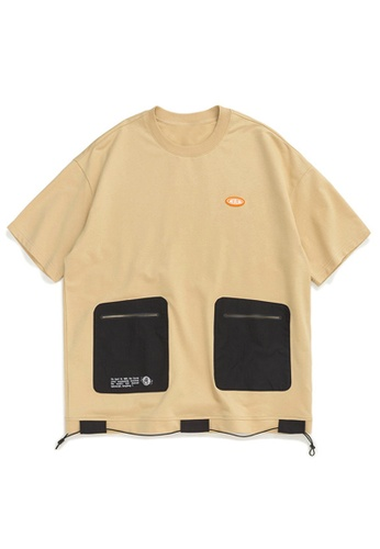 Twenty Eight Shoes Functional Pocket Patchwork Short T-shirt 1047S20 A1857AADF20DF3GS_1
