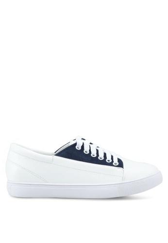 Something Borrowed 白色 and 藍色 拼接運動鞋 4E52BSH7A7BDABGS_1