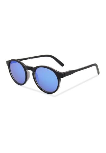 Quattrocento Eyewear Quattrocento Eyewear Italian Sunglasses with Blue Lenses Model Messina B38C9GLA1FAEF2GS_1