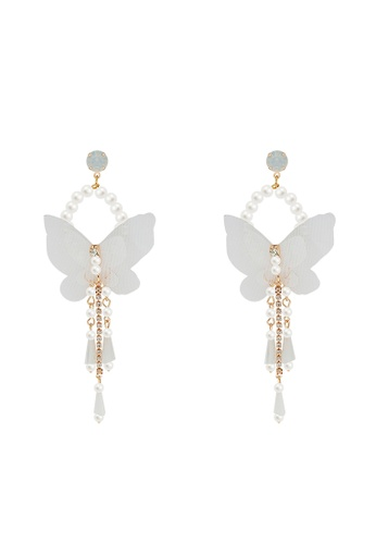 Mellow white Delicate Butterfly Earrings BCAA8AC32B3C50GS_1