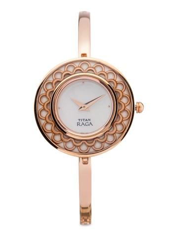 Titan  2530WM01 雙指針時尚細鏈飾大圓錶esprit童裝門市, 錶類, 時尚型