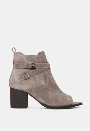 RAG&CO beige Peep Toe Ankle Boots D82CBSH36E1D1DGS_1