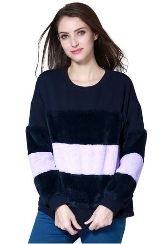 London Rag purple Purple Sweatshirt 69030AAD71604FGS_1