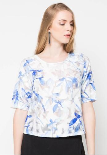 WHITEMODE blue Anya Blouse WH193AA47PSYID_1