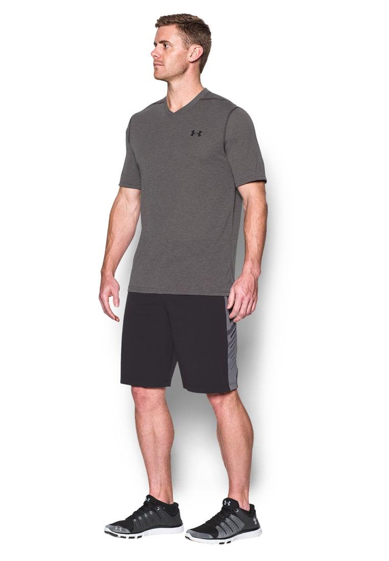 Black Heather Neck Typhoon Armour Green Under Carbon V Threadborne T Shirt UA TBw81FPqq