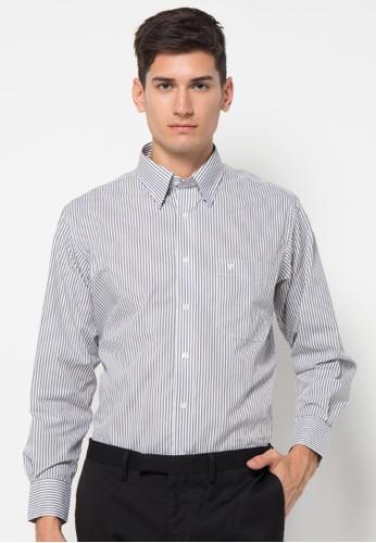 Tootal black Shirt Long Sleeve Stripe TO643AA84HHJID_1