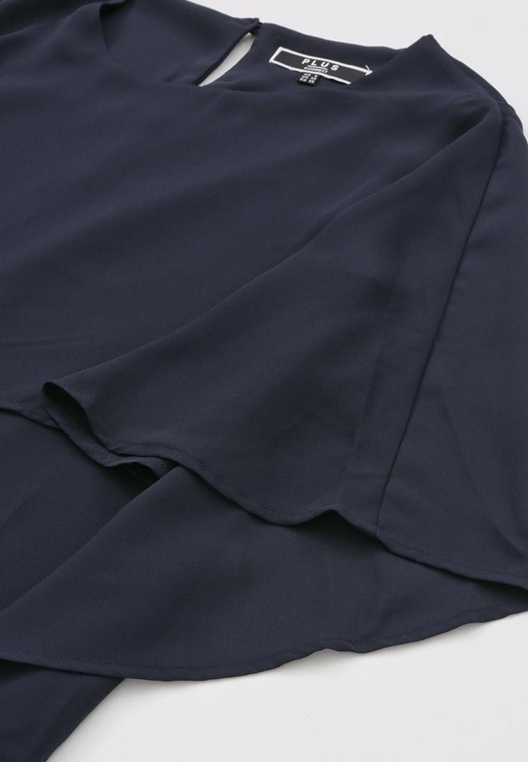 H CONNECT Flounce Navy Dress Dress Flounce Zw7B7Ux
