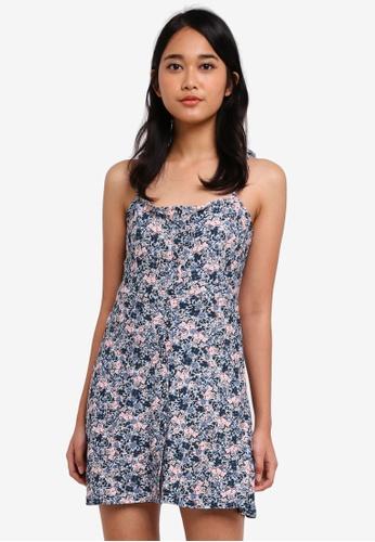TOPSHOP multi Ditsy Button Through Mini Dress 5DE6EAA3E783DDGS_1