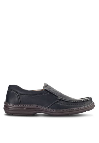 Louis Cuppers black Casual Slip Ons LO977SH11VOIMY_1