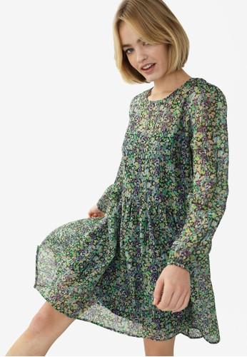 PIMKIE black and multi Babydoll Print Chiffon Dress 48702AA2835DADGS_1