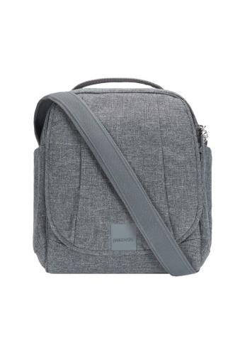 Pacsafe grey Pacsafe Metrosafe LS200 Shoulder Bag (Dark Tweed) 37406AC46E694FGS_1