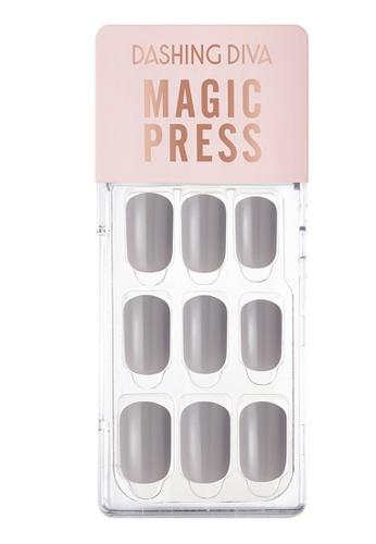 Dashing Diva grey Dashing Diva 1 SEC. MAGIC PRESS Manicure Fog Gray / Press on Nails /Nail Tips C1BEBBEEFB4C53GS_1