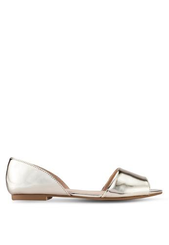 ZALORA gold Peep Toe D'Orsay Flats 3CE51SH53A595DGS_1