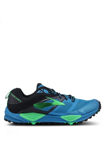 Brooks blue Cascadia 12 Shoes 5DDF7SH84C67A3GS_1