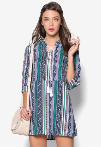 民族風印花直筒連身裙, esprit hk store韓系時尚, 梳妝