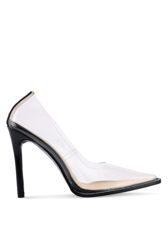 Public Desire 米褐色 Badgal 鉚釘高跟鞋 22F06SH51108C0GS_1