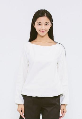 拉克蘭袖泡芙式esprit台灣網頁上衣, 服飾, 襯衫