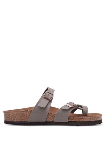 Birkenstock 灰色 Mayari Birko-Flor Nubuck Sandals BI090SH0RTI9MY_1