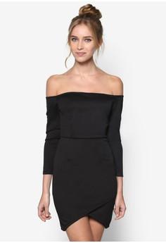 Off Shoulder Wrap Bodycon Dress