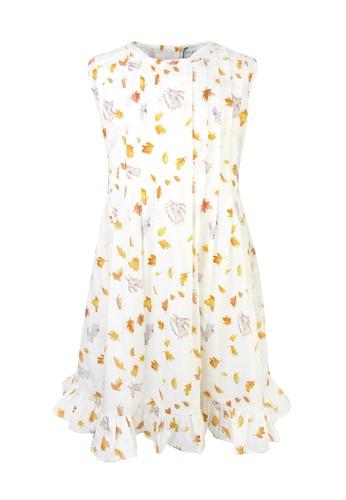 Viva Vida Kids white and yellow Indie dress Autumn leaves 394FBKACE227D2GS_1