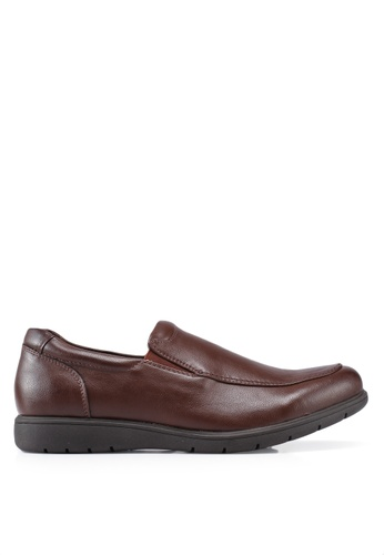 Bata brown Solid Dress Shoes FCBA4SH2536448GS_1