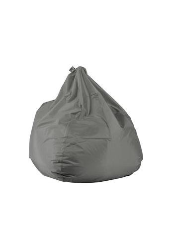 doob grey PLOP - teardrop-shaped spill-proof doob bean bag (Ash Grey) 2A08DHLB69E0FCGS_1