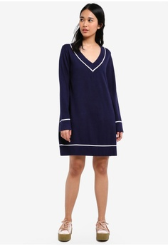 Something Borrowed Knitted Contrast Stripe Sweater Dress S 29 90 Now 17 Sizes Xs M L Xl