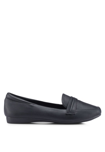 Louis Cuppers 黑色 Faux Leather Loafers F11D0SH2AA9363GS_1