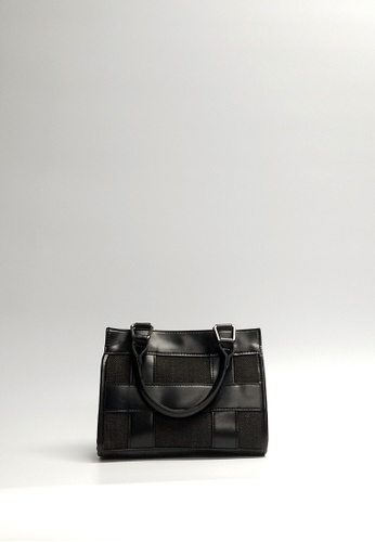 Lara black Women's Plaid Top-handle Shoulder Bag 1DB84ACAF3CA0CGS_1