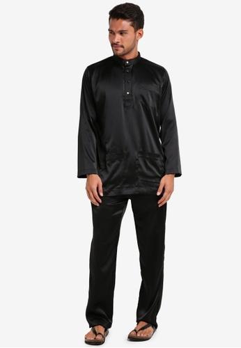 Lubna black Matte Satin Baju Melayu Cekak Musang C77C6AA2C77BE8GS_1