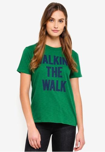 J.Crew green Walk The Talk Tee D33EDAA3A2082AGS_1