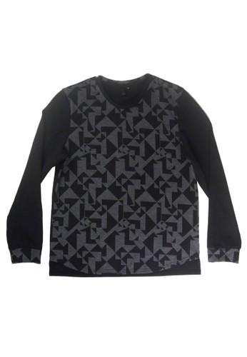 幾zalora時尚購物網的koumi koumi何印花長袖上衣, 服飾, 外套