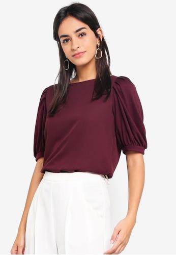 Vero Moda purple Pippa Short Sleeve Top 8287DAA7BB927FGS_1