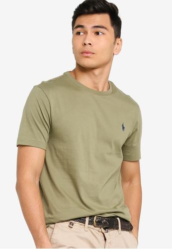 Polo Ralph Lauren green Short Sleeve Crew Neck Custom Slim fit T-Shirt 5544DAAE4D6B05GS_1