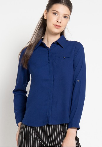 sophistix navy Nell Shirt In Navy SO829AA47OXOID_1