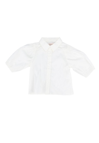 ONLY white Konliva Puff Sleeves Shirt A043CKA5F53BE2GS_1