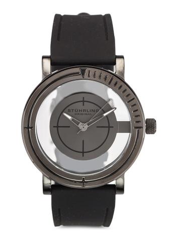 Stuhrling Original black Stainless Steel Gunmetal Gray Case Watch ST251AC0RFJFMY_1