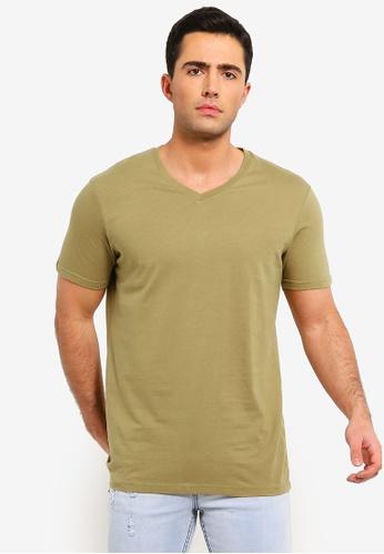 Cotton On 黃色 Essential Vee Neck T恤 8B5F1AA18B2E72GS_1