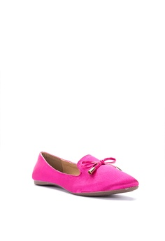 e006195158397 15% OFF Chloe Edit Foldable Ballet Shoes with Padded Insole and Bow Flats  Php 1,499.00 NOW Php 1,279.00 Sizes 36 37 38 39