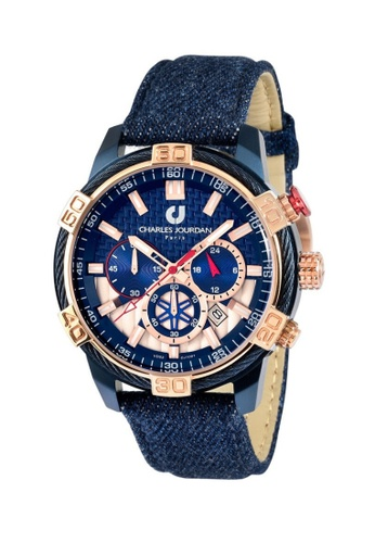 Charles Jourdan gold Charles Jourdan Men Watch Chronograph CJ1091-1882C A873CAC9D26399GS_1