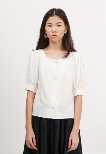 Bobo Tokyo white Kanako Top - Off White 1F088AA98FCCCCGS_1