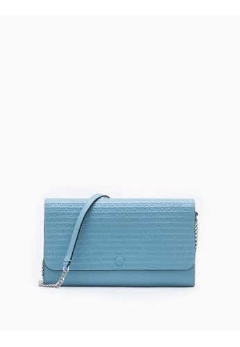 Calvin Klein blue All-Over Logo Wallet With Chain B7FC3AC26B30E2GS_1
