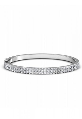 Her Jewellery silver Her Jewellery Glamour Bangle with Premium Grade Crystals from Austria 4CE1DAC03821DEGS_1