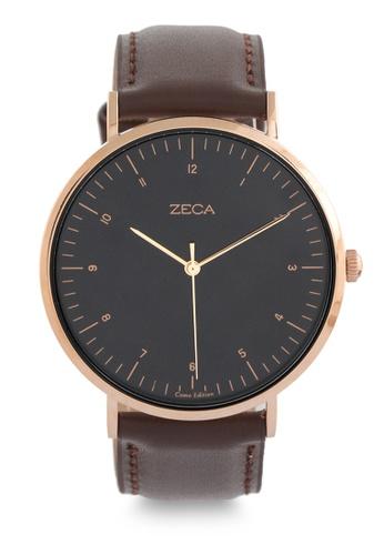 ZECA brown and gold Zeca Watches Couple Men Fashion Ladies - 3007M Brown Gold ZE074AC0UL2BID_1