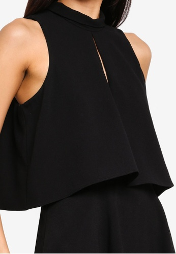 f65298484b Buy River Island High Neck Tiered Frill Playsuit Online on ZALORA Singapore