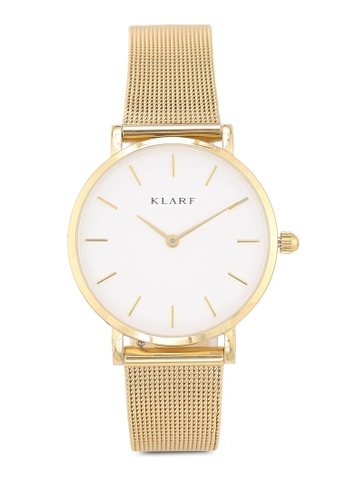 Klarf gold Petite Watch With Mesh Bracelet 626C5AC5B08AB8GS_1